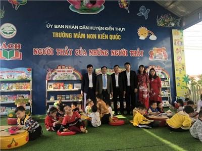 GDMN huyện Kiến Thụy tổ chức Hội thảo Nâng cao hiệu quả hoạt động cho trẻ ở góc sách truyện, tủ sách, thư viện mở phát triển văn hóa đọc trong trường mầm non